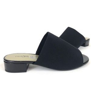 East 5th EF SAGE Womens Flat Slide Sandals - Black